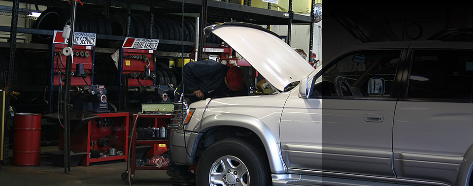 Vehicle in Shop for Mechanic Services
